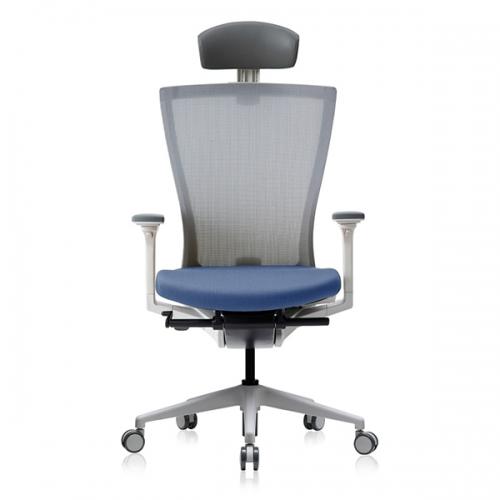 베스툴 RAE110LW 래디우스 화이트 헤드형 메쉬 사무용 의자