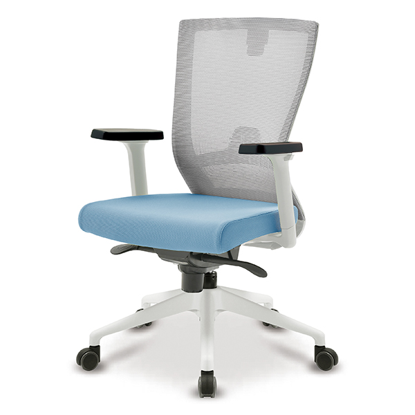 S10 화이트 조절팔 프론형 중형 메쉬 사무용 의자