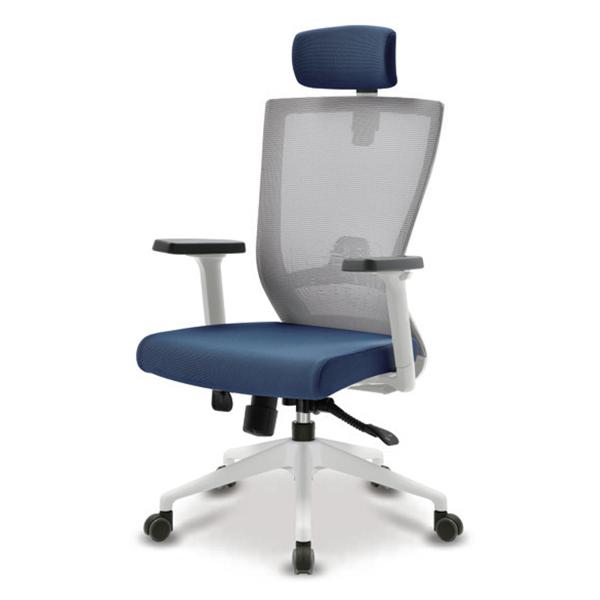 S10 화이트 조절팔 A형 대형 메쉬 사무용 의자