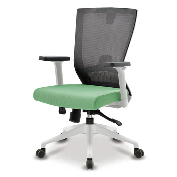 S10 화이트 조절팔 A형 중형 메쉬 사무용 의자