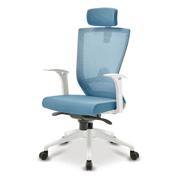 S10 화이트 고정팔 프론형 대형 메쉬 사무용 의자