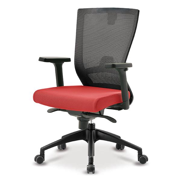 S10 블랙 조절팔 프론형 중형 메쉬 사무용 의자