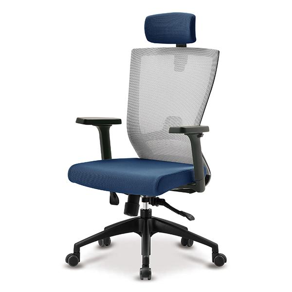 S10 블랙 조절팔 A형 대형 메쉬 사무용 의자