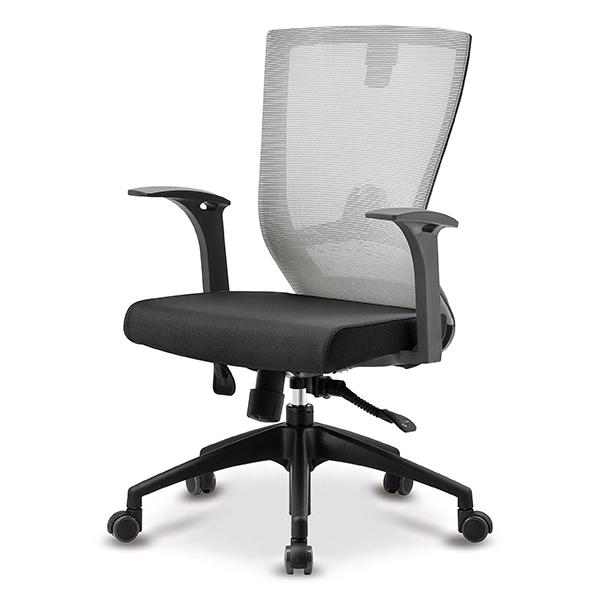 S10 블랙 고정팔 프론형 중형 메쉬 사무용 의자