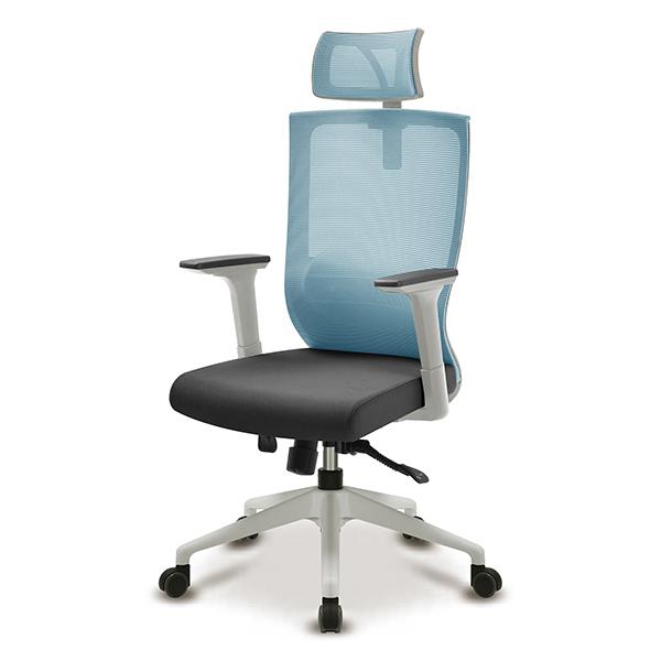 S30 화이트 넉다운팔 대형 메쉬 사무용 의자