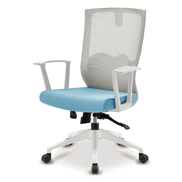 S30 화이트 몽블랑팔 사출L 중형 메쉬 사무용 의자