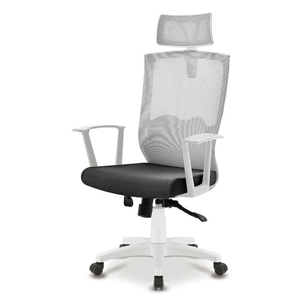 S30 화이트 몽블랑팔 사출 대형 메쉬 사무용 의자