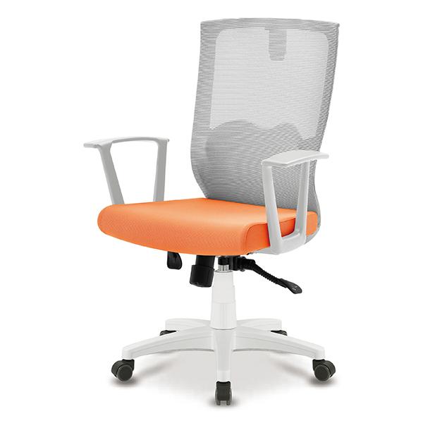 S30 화이트 몽블랑팔 사출 중형 메쉬 사무용 의자