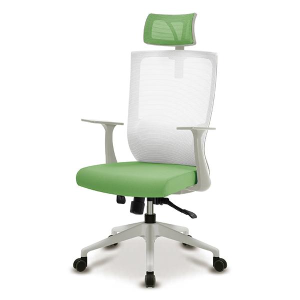 S30 화이트 플럭팔 A형 사출L 대형 메쉬 사무용 의자