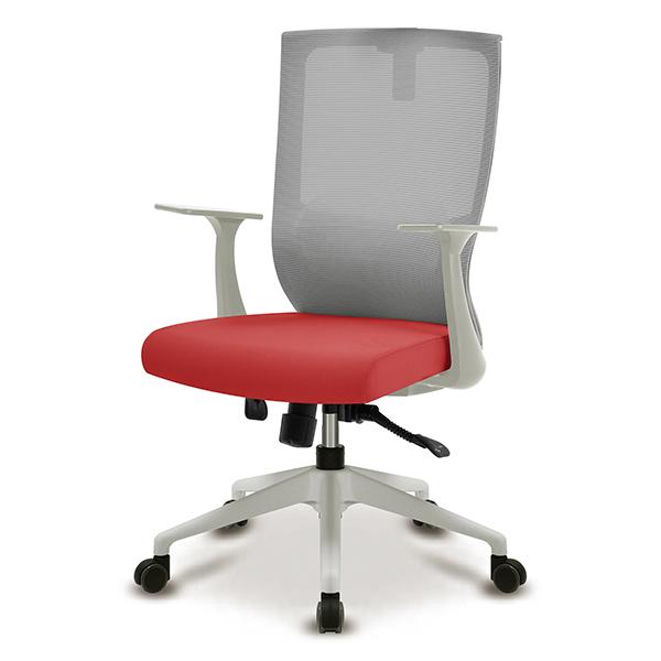 S30 화이트 플럭팔 A형 사출L 중형 메쉬 사무용 의자