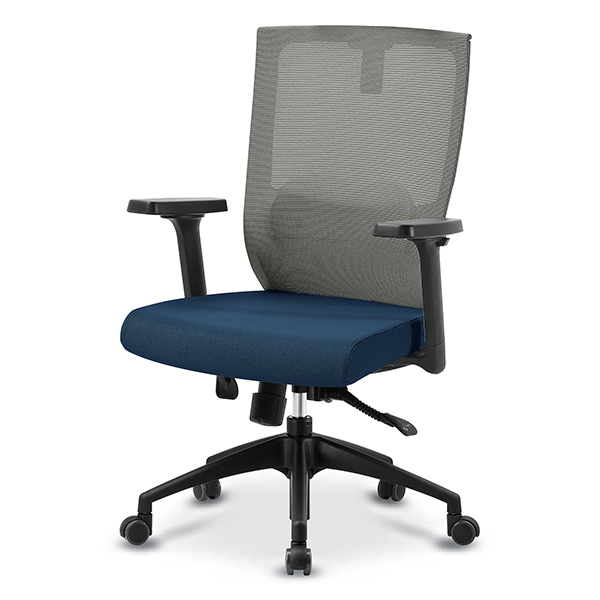 S30 블랙 조절팔 중형 메쉬 사무용 의자