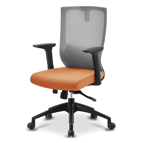 S30 블랙 넉다운팔 중형 메쉬 사무용 의자