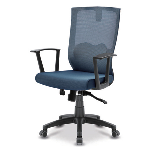 S30 블랙 몽블랑팔 사출 중형 메쉬 사무용 의자